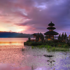 Colourful by Yande Ardana - Landscapes Travel ( temple, bali, lake, sunrise )