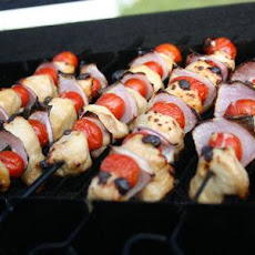 Mini Tomato, Onion & Chicken Kabobs