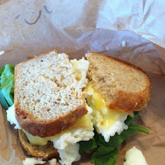 Egg white & spinach w/cheese on toast (gluten-free)
