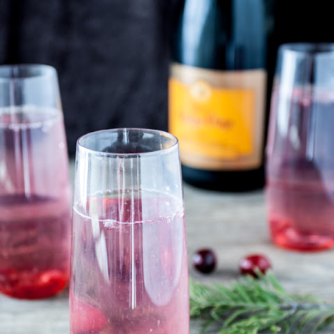 Cranberry & Star Anise Champagne Cocktails