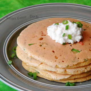 Cornmeal Scallion pancakes
