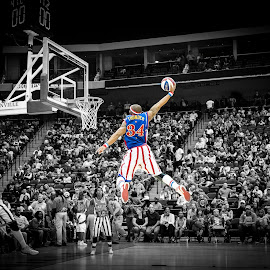 The Thunder by Brian Baker - Sports & Fitness Basketball ( harlem globetrotters, selective color, pwc )
