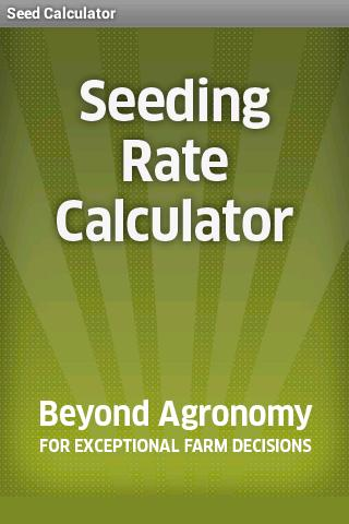 Seed Calculator
