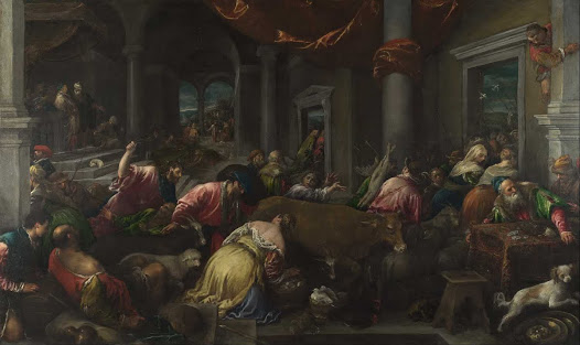 Bassano Jacopo, Cacciata dei mercanti dal tempio