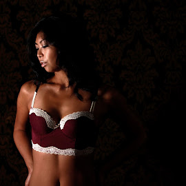 Day and Night by Troy Phifer III - Nudes & Boudoir Boudoir ( undies, boudoir, pensive, dark, light )