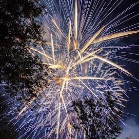 Bonne St-Jean! by Éric Senterre - Public Holidays July 4th ( holyday, saint-jean-baptiste, fireworks, terrebonne, feux d'artifices, québec )