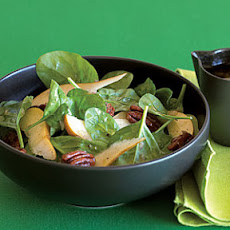 Candied Pecan, Pear, and Spinach Salad
