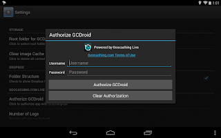 Screenshot of GCDroid Pro Key - Geocaching