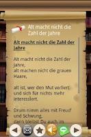 Screenshot of Gedichte für Feste aller Art!