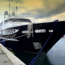 Black ship by Tihomir Beller - Transportation Boats ( transport, ship, boats, holidays, sea )