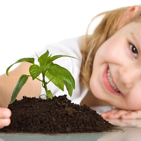 child to save planet by Dinesh Kumar - Babies & Children Children Candids ( child, tree, green planet, go green,  )