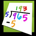 Math flash cards icon