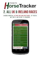 Screenshot of Horse Tracker - Racing Bet App