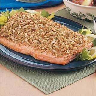 Baked Salmon with Crumb Topping