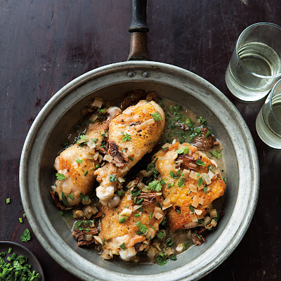 Braised Chicken with Shallots & Mushrooms