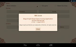 Screenshot of MK Score