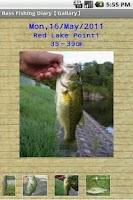 Screenshot of Bass Fishing Diary