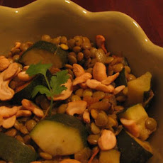 Spicy Curried Lentil Stew With Cashew Nuts