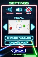 Screenshot of Glow Hockey 2