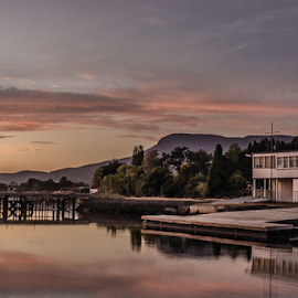 The Yacht Club by Leonie Mcdonald - Landscapes Waterscapes