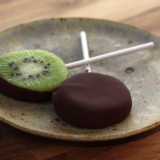 Chocolate Covered Kiwi Popsicles