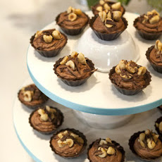 Chocolate-Hazelnut Mousse-Filled Cups
