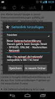 Screenshot of OnlineZeitungen Deutschland