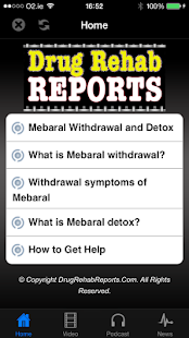Mebaral Withdrawal & Detox - screenshot