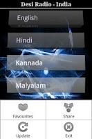 Screenshot of Desi Radio- Hindi,Tamil,Telugu