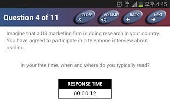 Screenshot of YBM TOEIC® Speaking Test