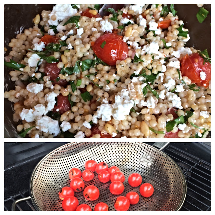 Grilled Tomato and Israeli Couscous Salad with Mint, Pine Nuts and ...