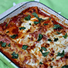 Spinach Cannelloni In Tomato And Crème Fraîche Sauces