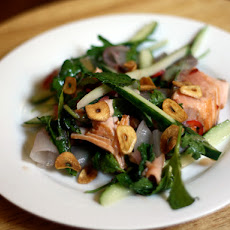Dinner Tonight: Seared Salmon Salad with Roasted Shallot and Chile Dressing