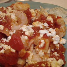 Garides Youvetsi - Shrimp With Feta