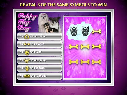 Puppy Pay Day Dog Slots Casino apk screenshot