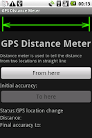 Screenshot of GPS Distance Meter