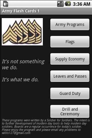 Army Flashcards 1