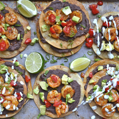 Blackened Shrimp Tostadas