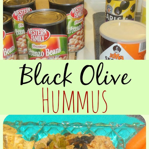 Black Olive Homemade Hummus