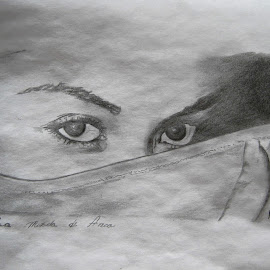su mirada by Mauricio Silerio - Drawing All Drawing ( pencil, ojos, lapiz, paper, drawing, eyes )