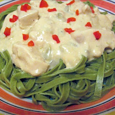 Green Chile Chicken Alfredo