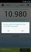 Screenshot of SpeedCube Timer Free