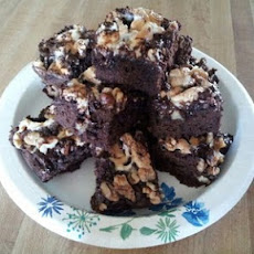 Dark Chocolate Rocky Road Brownies