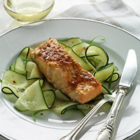 Slow-broiled Teriyaki Salmon