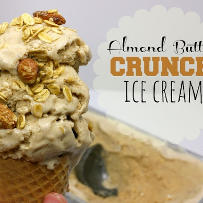 Almond Butter Crunch Ice Cream