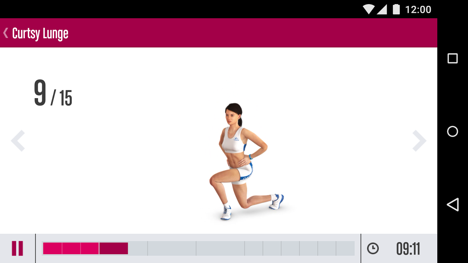 Runtastic Butt Trainer Workout Screenshot 2