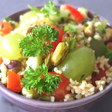 Bulgur Salad with Grapes and Pistachios