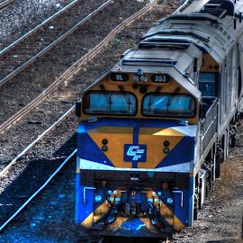 Sidelined for the weekend by Peter Keast - Transportation Trains ( diesel, railway, engine, train, transportation )