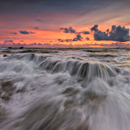 mengenng flow by Tino Purnamantha - Landscapes Waterscapes ( water, bali, sunset, indonesia, popular, sunrise, seascape, landscape,  )