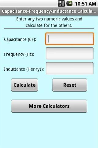 Cap. - Freq. - Ind. Calculator